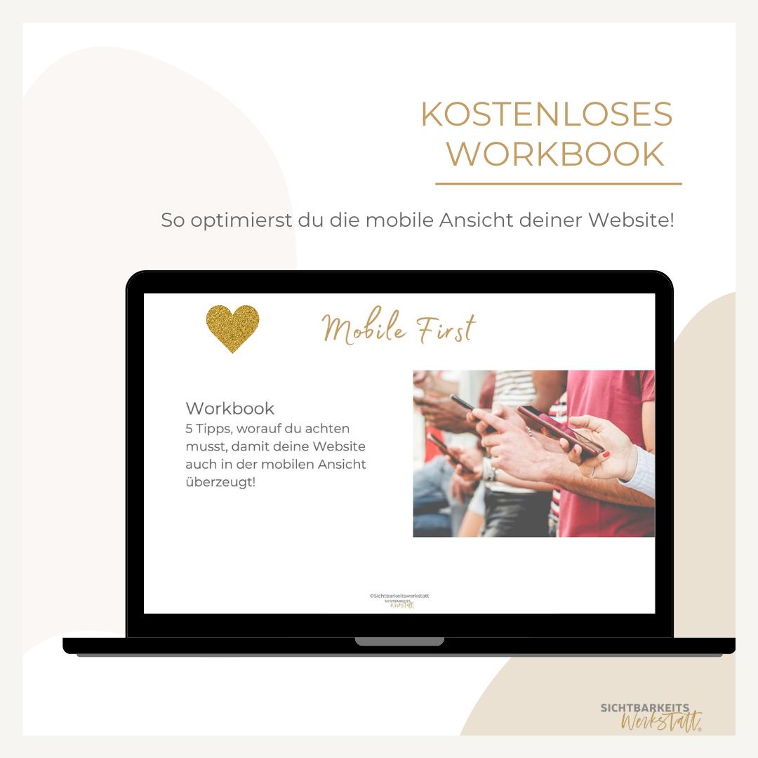 Workbook mobile first Sichtbarkeitswerkstatt Conny Klaas
